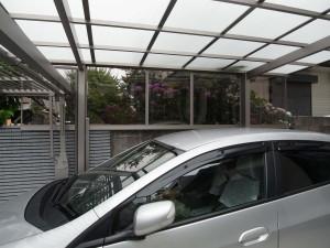 三井ホームの外構工事 車庫出入りの安全対策