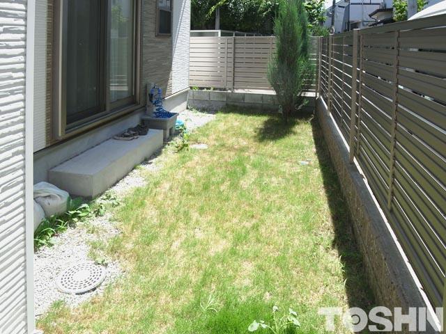 雑草処理が大変な芝生のお庭 狛江市