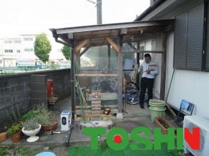 ガーデンルームLIXILジーマの特殊加工