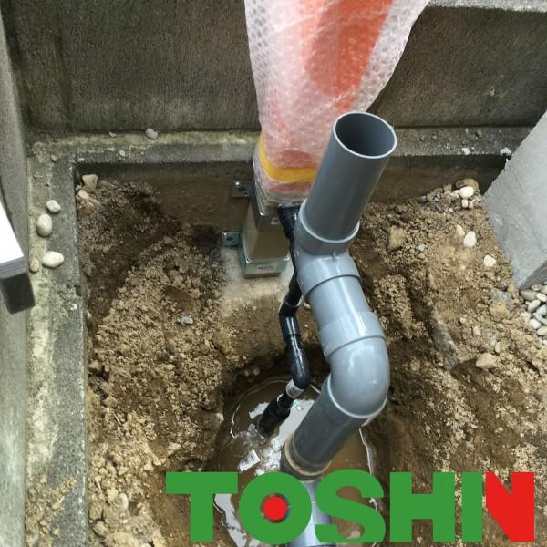 サンルームの外水道取替え工事