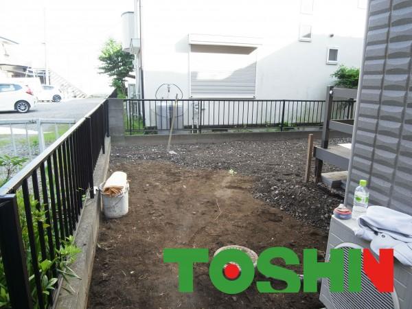 庭の雑草対策、ガーデンテラス