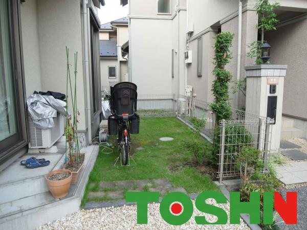 使ってないお庭を自転車置場にリフォーム
