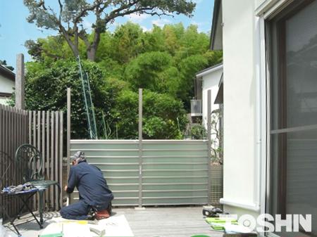 風と光を通す目隠しフェンス設置 鎌倉市 A様邸