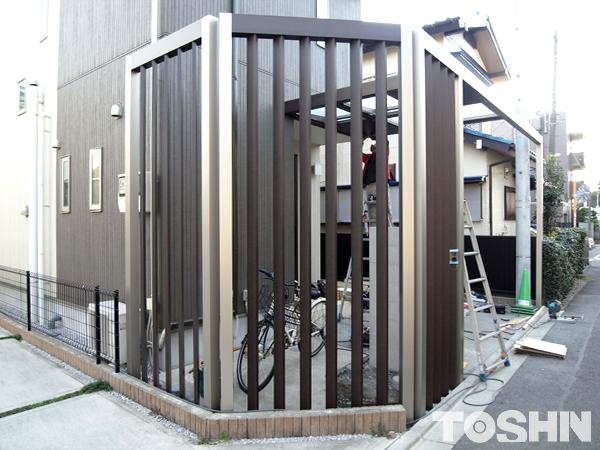 建売住宅のエクステリアに目隠しをプラス 神奈川県