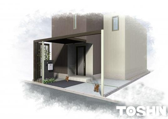 建売住宅の外構リフォーム施工イメージ