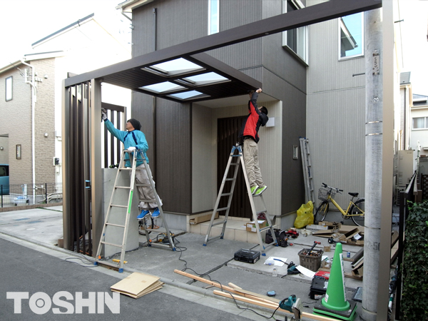 建売住宅のエクステリアをオリジナルにリフォーム 神奈川県
