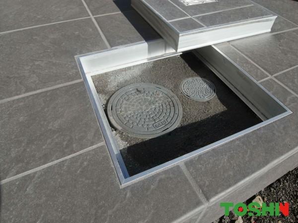 フロアーハッチで床タイルの仕上がりをきれいに 神奈川県