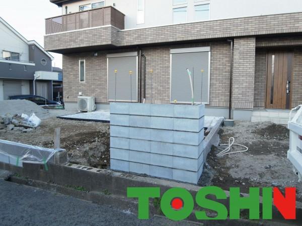 ニッチを入れたおしゃれなタイル門柱 横浜市泉区