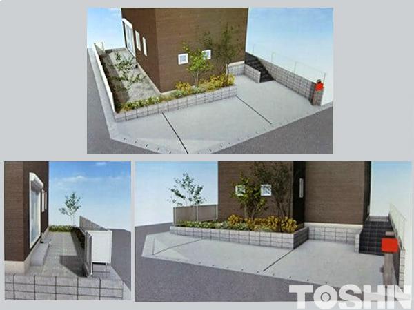 日野市の植栽で彩る新築外構 イメージパース