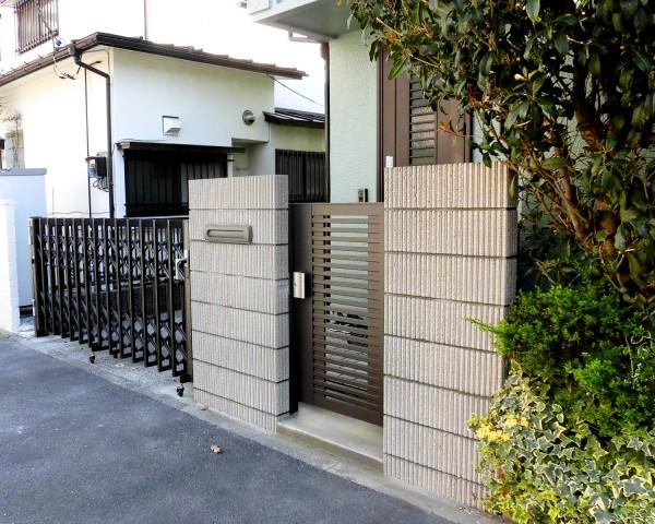 大和市の門扉のリフォーム外構工事