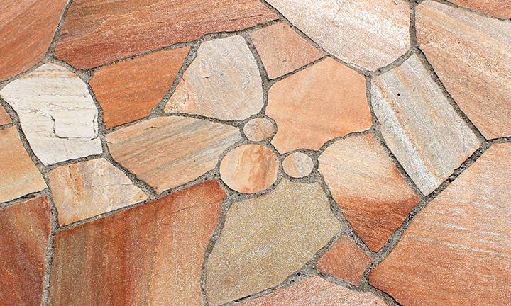 神奈川県相模原市で自然石の外構,エクステリアの展示場