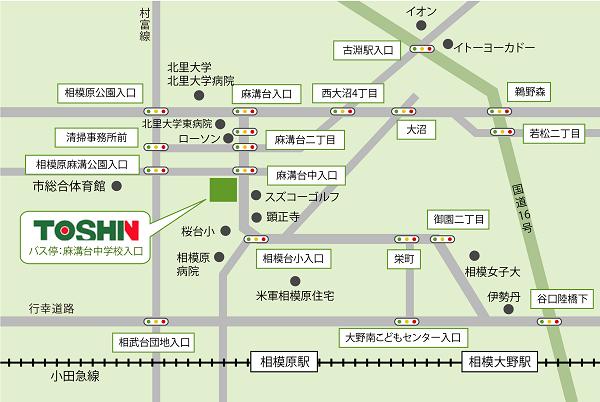 神奈川県相模原市のガーデンルーム,ガーデニングの展示場地図