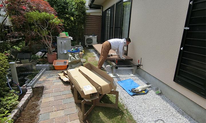 相模原市で庭まわり・ガーデン工事の施工期間