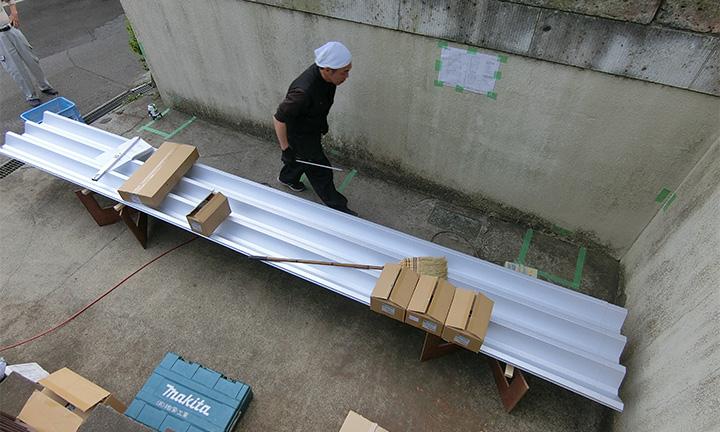 相模原市のカーポートの柱の掘方