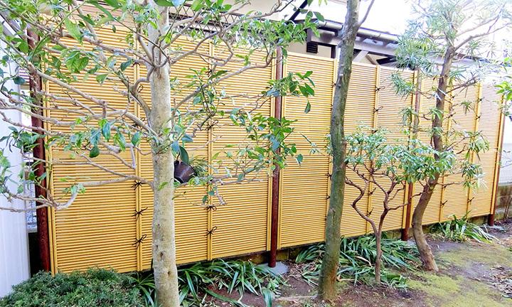 相模原市の竹垣デザインの目隠しフェンス