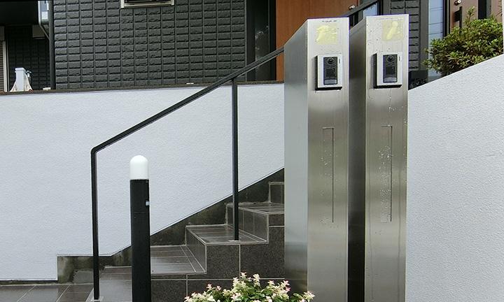 相模原市の機能性門柱の表札工事