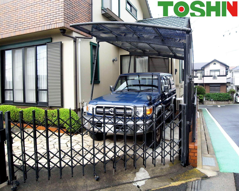 海老名市のカーポート屋根修理をともなう外構工事