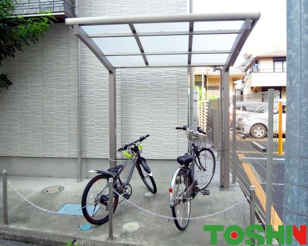 リクシルのサイクルポートで自転車を守ります 相模原市