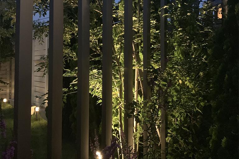 相模原市A様邸の夜の照明イメージ