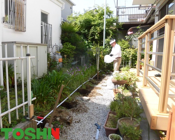 目かくしフェンス「アルファウッド」でお庭を明るく 相模原市