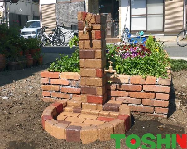 相模原市の立水栓設置のガーデニング工事