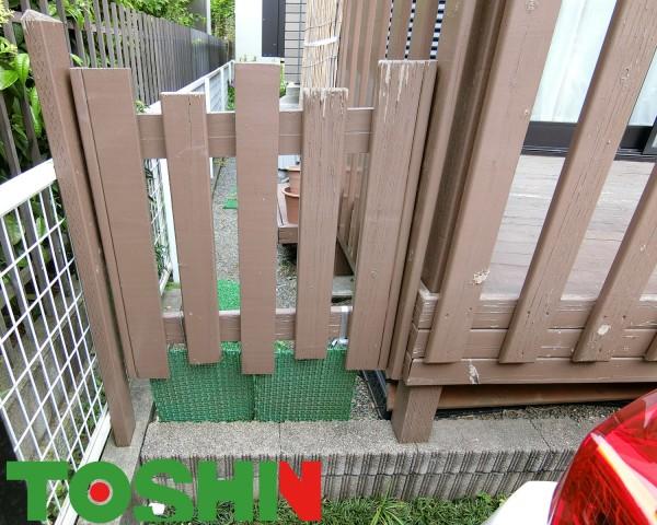 リクシルの「樹ら楽」で変形のウッドデッキを 町田市