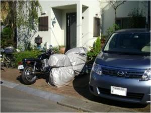 愛車にバイク保管庫