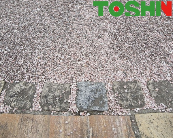自然石貼りのアプローチ 横浜市