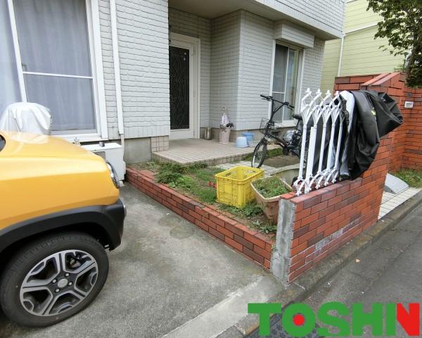 駐輪場にサイクルポート設置 相模原市  施工前