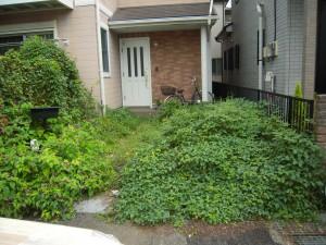 雑草で困っていたお庭のリフォーム 相模原市