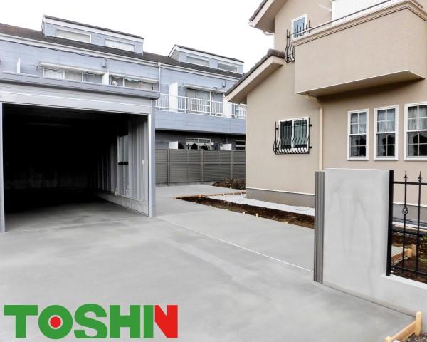 イナバの大型ガレージと物置で広い敷地を有効に 相模原市