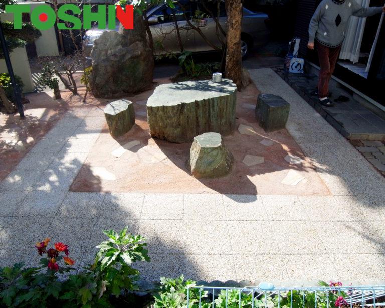 お庭の平板敷き工事 施工後