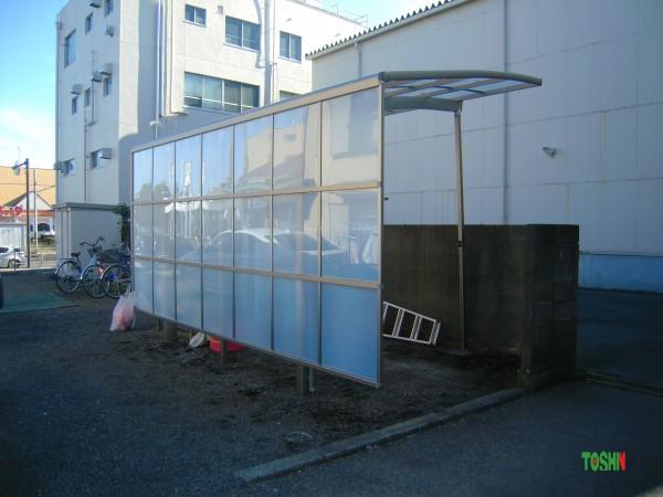相模原市のサイドパネル付のカーポート設置