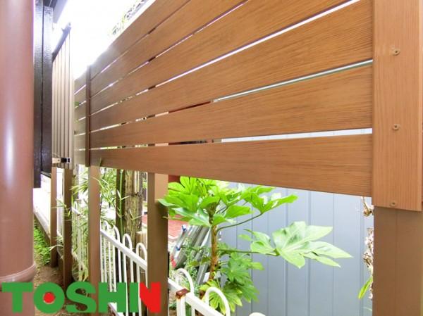 目かくしフェンスと竹垣で隣地との境界をすっきり 相模原市