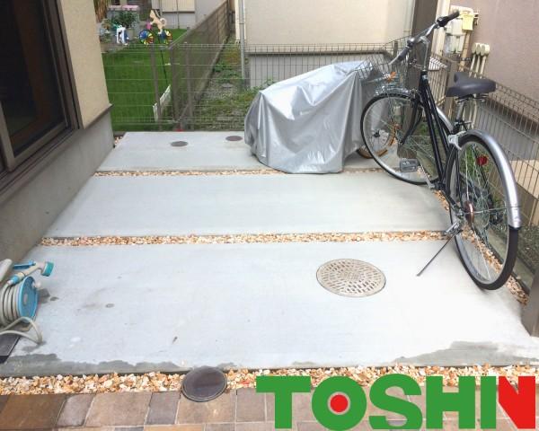 濡れずに送り迎えできる自転車置き場 相模原市 T邸