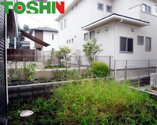雑草対策でお庭にウッドデッキを 相模原市
