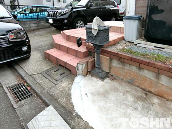駐車スペースの拡張工事 町田市H様邸