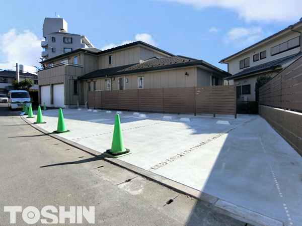 駐車場のコンクリート舗装工事 おしゃれなアスファルト 相模原市Y様邸