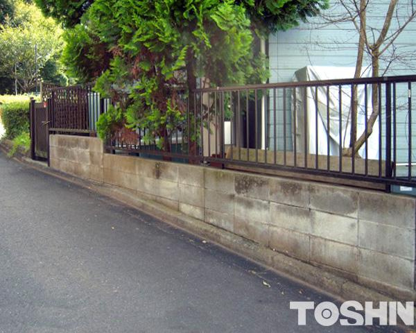 変形地に合わせたカーポートの設置とフェンス 相模原市 M様邸
