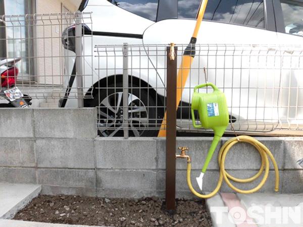 立水栓設置のためのリフォーム 散水栓使いやすく 座間市 H様邸