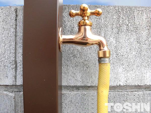 散水栓から立水栓に 座間市 H様邸 下部蛇口