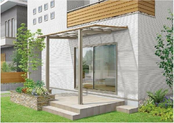相模原市の庭にあるテラス【LIXIL】フーゴ F テラスタイプ