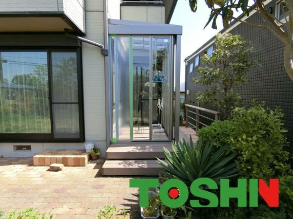 町田市の室内とお庭をつなぐエクステリア工事