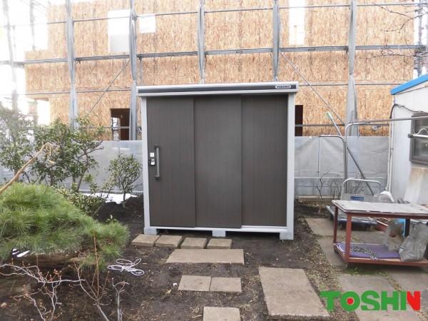 町田市のヨド物置設置の外構工事