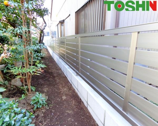 相模原市の目隠しフェンス設置の外構工事事例