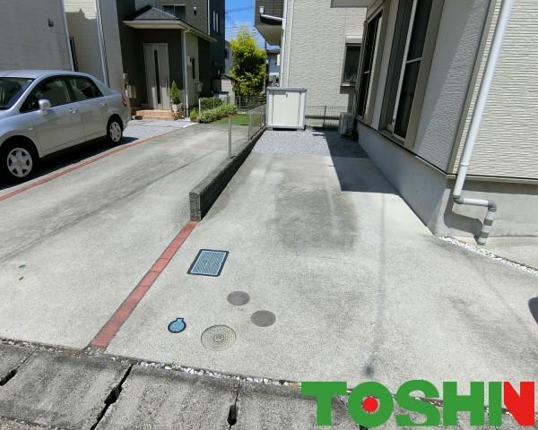 大和市の駐車場リフォームの外構工事