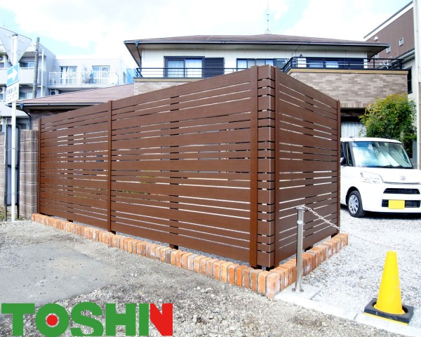相模原市の目かくしフェンス設置の外構工事例