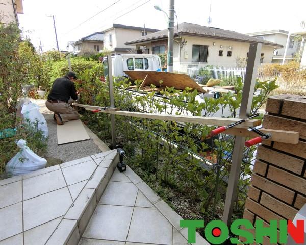 町田市のフェンス設置の外構工事