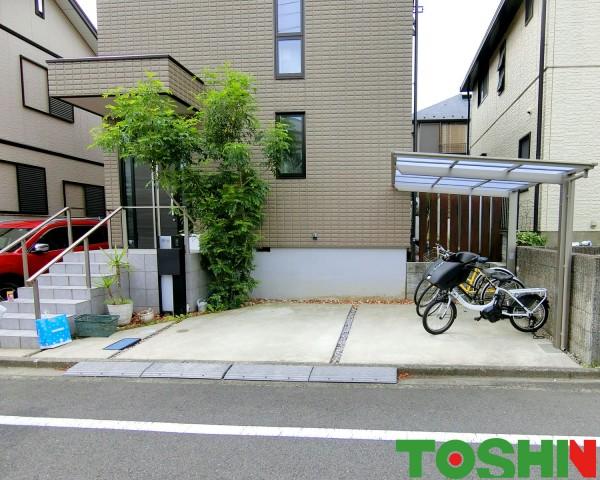 町田市のサイクルポート設置の外構工事