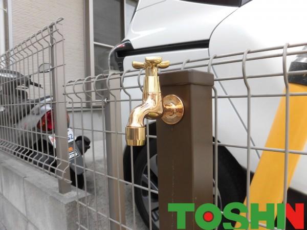 座間市の水栓交換の外構工事